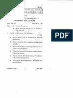 EHU601 Industrial Management