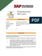 Orientaciones Del Curso- Matematica II PDF