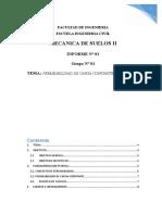 MECANICA DE SELOS - PERMEABILIDAD CARGA CONSTANTE