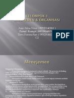 Manejemen & organisasi