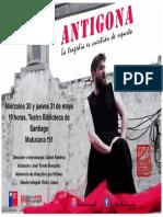 AFICHE ANTIGONA