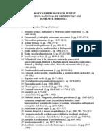 Tematica Si Bibliografie Rezidentiat 2010 - Medicina Generala