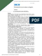 Lei 6.766_79 - Parcelamento Do Solo Urbano No Registro Imobiliário, De Autoria de Ane Carolina Novaes (Versão Para Impressão) - Boletim Jurídico