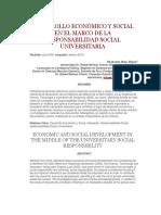 Desarrollo Económico y Social en El Marco de La Responsabilidad Social Universitaria