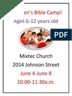 Children's Bible Camp