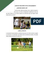 10 Juegos de Ejercicio Para Niños Con Su Procedimiento