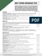 pies and pints full menu