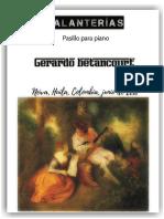 GALANTERIAS. Pasillo para piano. Por Gerardo Betancourt.