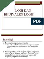 (9 - 10) Ekuivalen Logis Dan Tautologi-1