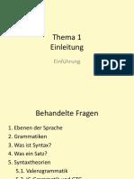 Thema 1 - Einleitung, Grundbegriffe Der Syntax
