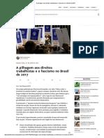 A Pilhagem Aos Direitos Trabalhistas e o Fascismo No Brasil de 2017
