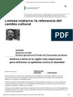 Comida Chatarra_ La Relevancia Del Cambio Cultural _ ComunicaRSE