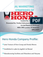 Rural Marketing Strategies of Hero Honda