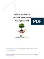 Ranking Mayo 2018