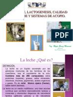 1.2 Leche, Lactogenesis, Calidad de Leche y Sistemas de Acopio.