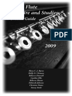 Selected Flute Repertoire and Studies
