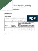 university reserch worksheet pdf