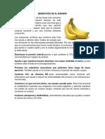 Beneficios de El Banano