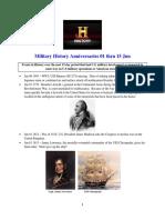 Military History Anniversaries 0601 Thru 061518