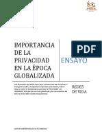 Importancia de La Privacidad en La Época Globalizada