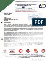 Carta Seccional ANEP-Sinart Al Presidente Carlos Alvarado