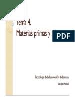 Tema 4 Materias Primas y Aditivos