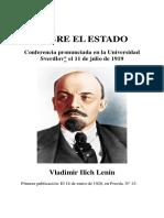 Lenin Sobre El Estado