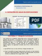 4. Dotacion de Aguas en Edificaciones