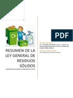 Resumen Ley General de Residuos Sólidos (PERU)