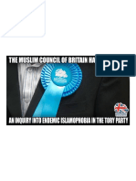 The Muslim Council of Britain & Leading Tories Have Called for an Independent Inquiry Into Allegations of Islamophobia Within the Conservative Party