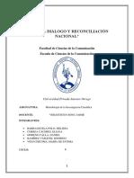 Metogologia de La Investigacion Para El Final de Verástegui Análisis