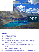 Conservacion Hidricos Cambio Climatico Huanuco (30!10!2014)
