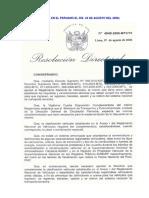 RD N 4848-06-MTC (Estandarizacion de Carrocerias)