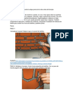 Materiales Empleados Durante La Etapa Previa de La Obra Antes Del Tarrajeo