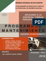 Mantenimiento Fibras Peruanas g s j d r