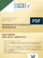 Biografías de Estadísticos y Matemáticos