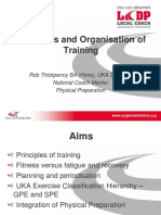 Principles and Organisation of Training