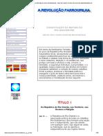 Constituição Da República Rio-grandense (Ano de 1843 e Oitavo Da Nossa Independência)
