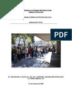 Reporte de Simulacro 2008