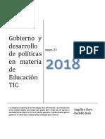 Gobierno y Desarrollo de Políticas en Materia de Educación TIC Ok