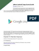 Cara Membeli Aplikasi Android Tanpa Kartu Kredit