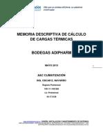 Cálculo de Carga Térmica Adipharm Sa
