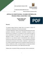 07. Artículo 20 Constitucional. Columna Vertebral Del Proceso Penal Acusatorio y Oral..Docx