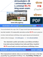 University of Sydney IELTS fraud scam