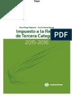 Impuesto a La Renta de Tercera Categoría. Ejercicios Gravables 2015-2016
