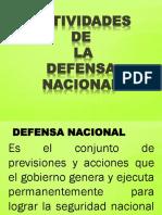 4.- Actividades de La Defensa Nacional
