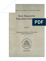 Desk Manual for Education Mangers- Section 1