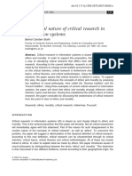 The ethical nature of critical researh