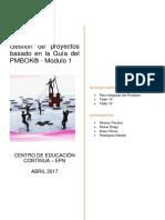 Gestión de proyectos  Modulo 1
