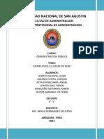 Ejemplos Cluster Peru - Adm Publica 4to c 2014